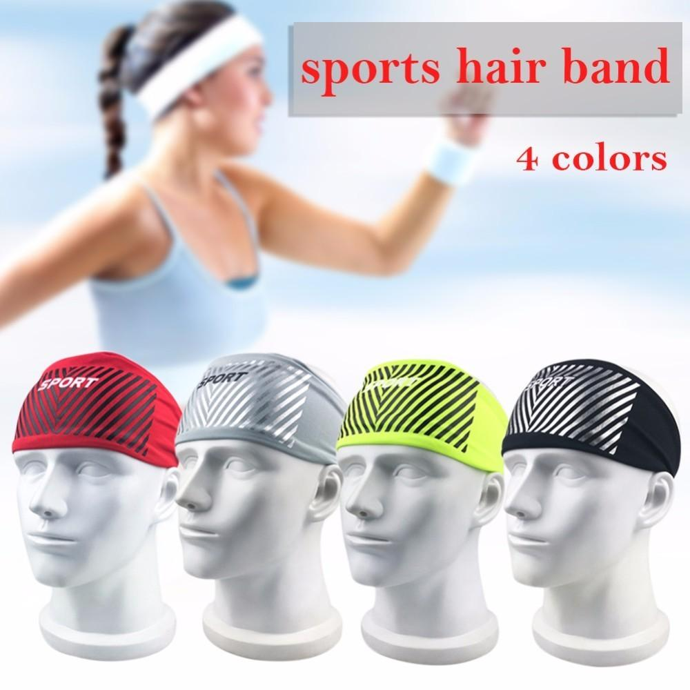 b6a287faf780 2019 Elastic Sport Headband Fitness Yoga Sweatband Outdoor Gym Running  Tennis Basketball Wide Hair Bands For Athletic Men Women From Lianqiao
