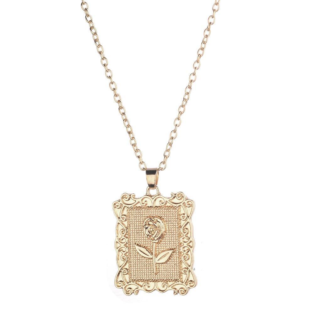 Acheter Charmelry Alliage D Or Rond Pendentif Collier Pour Femmes