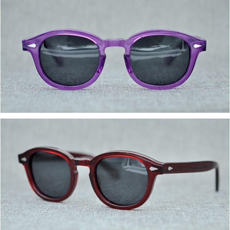 Polarized Case Lemtosh Johnny Sunglasses Blue Lenses 49mm Moscot With 1915 Sun Original Glasses Aaaaa Depp Quality odBerCx