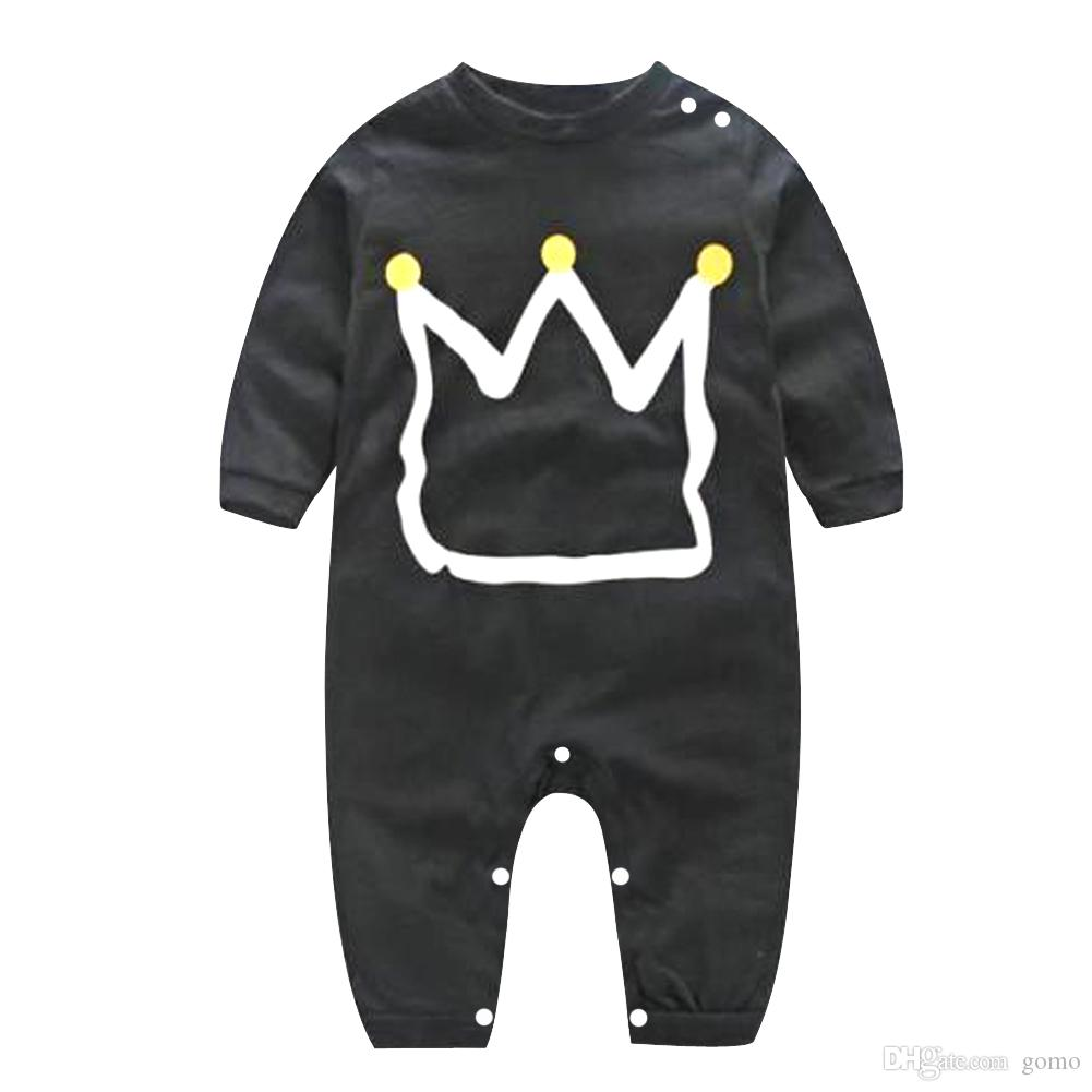 2019 Baby Boy Clothes Infant Romper Black Romper Toddler Long Sleeve Kids  Clothes Jumpsuit Pajamas Kids Spring Clothing 70 100 From Gomo 31455b55da6e