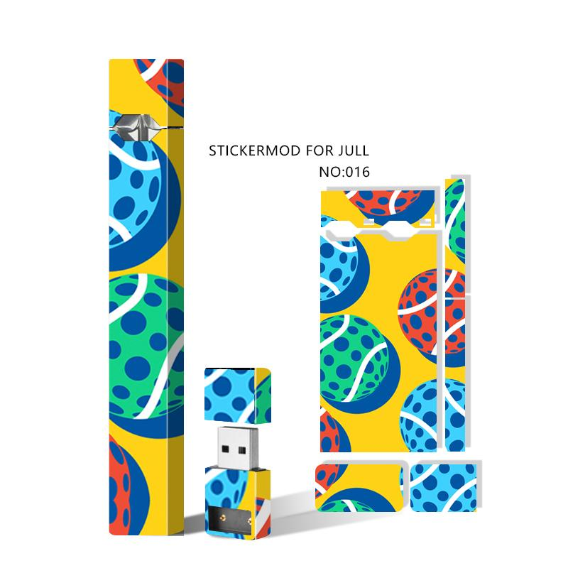 Skins Wraps Decal Sticker Cases Cover Sleeve for Jul Battery Starter Kit and USB Charger Vape Pen Mod Protective Stickers 23 Designs