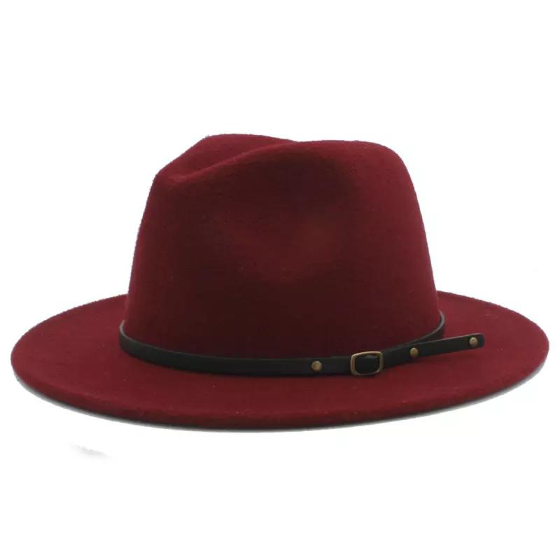 e8e750f3ad81c 2019 100% Wool Women Outback Felt Gangster Trilby Fedora Hat With Wide Brim  Jazz Godfather Cap Szie 56 58CM X18 From Redstar080
