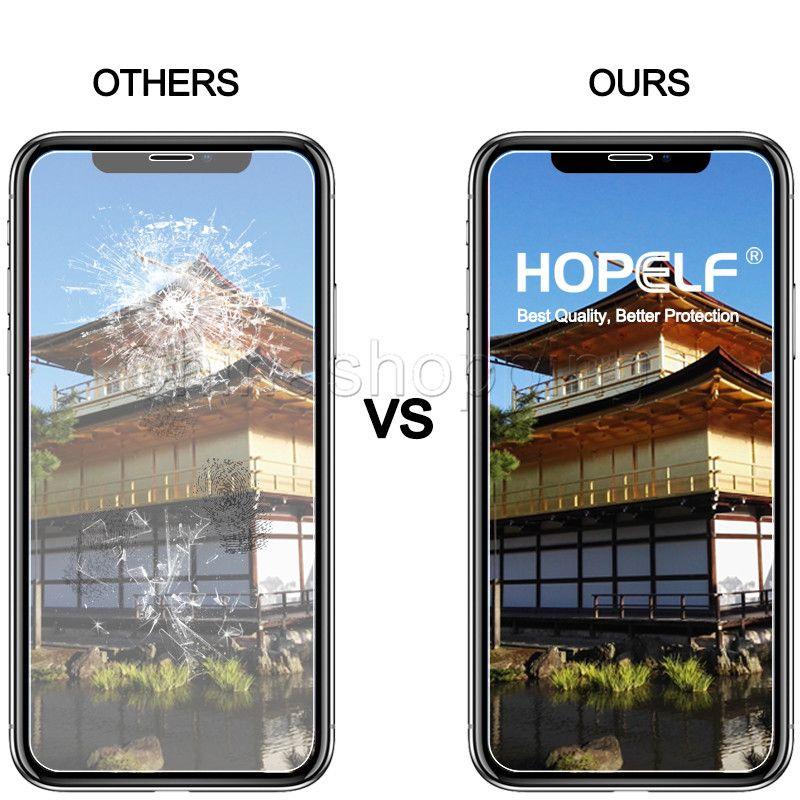 Ekran Koruyucu Koruyucu Film iphone 12 11 Pro Max için iPhone X XS Max 8 7 6 Artı Samsung J3 J7 Başbakan 2018 LG Stylo 4 Temperli Cam