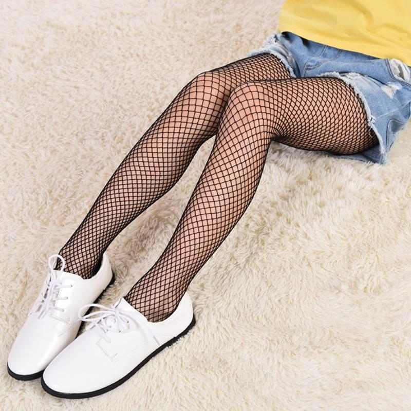 3be9178f6 2019 Children Girl Fishnet Stockings Lace Long Stockings Fish Net Grid Baby Tights  Kids Pantyhose High Elastic From Zhusa