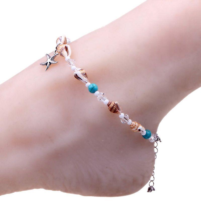 Noter stella marina carino piede Chian Bracciale Halhal spiaggia di estate delle donne sexy dei calzini di Boho sandali a piedi nudi gioielli e accessori