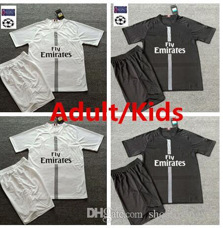 2019 SOCCER JERSEY Champions League Home Away KIDS P sG MBAPPE DI MARIA VERRATTI CAVANI DE FOOT Adult KIDS Football Training Shirt set