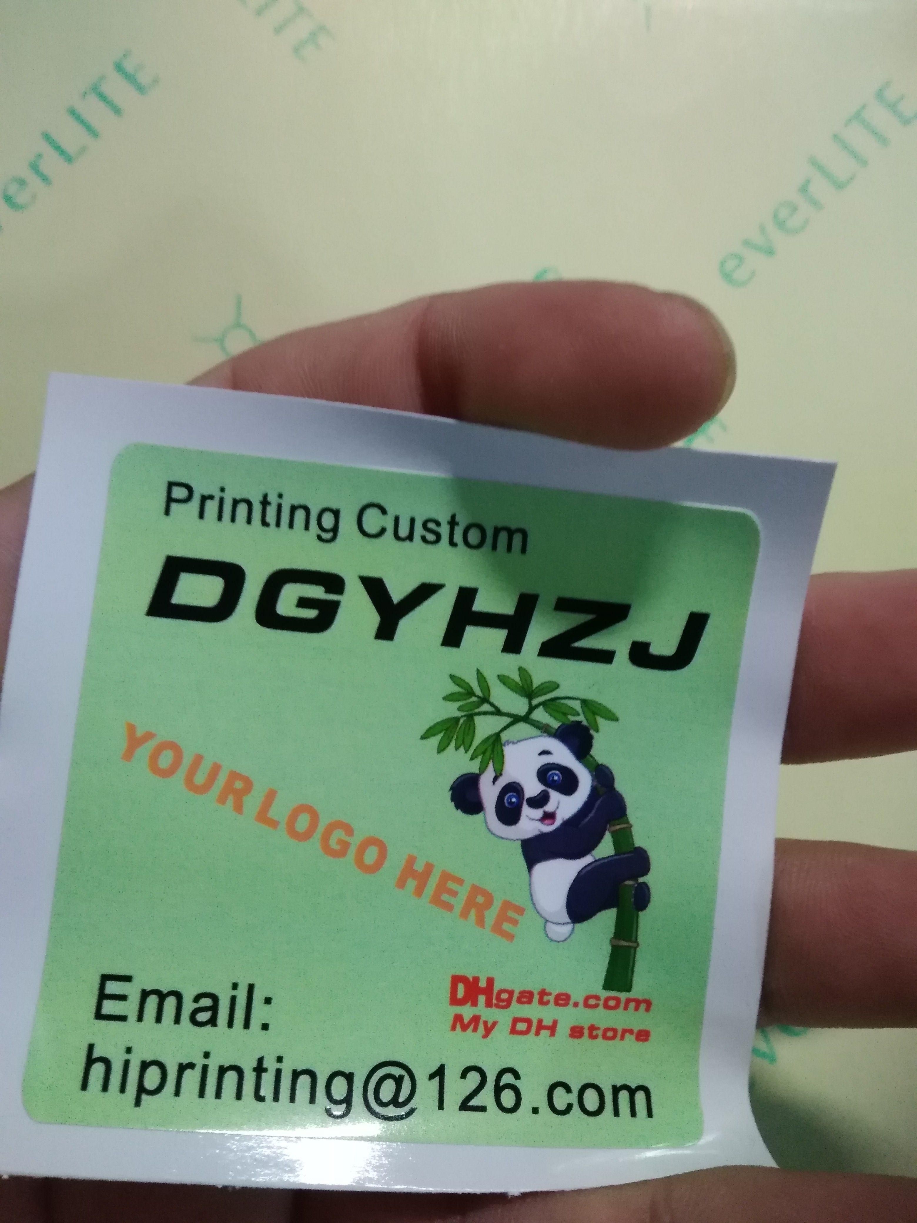 Matt Sticker Label Custom Color Paper Stationery Stores From