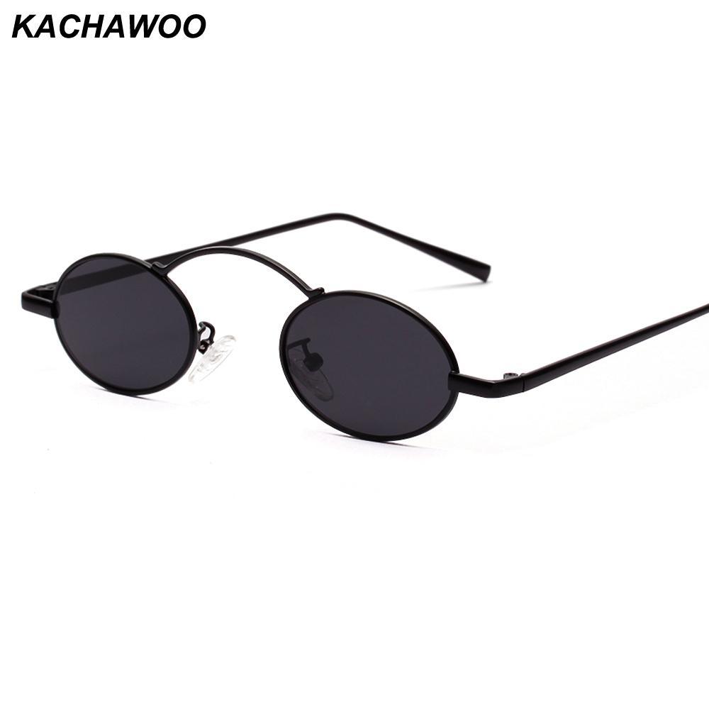 eac0124eb4 Compre Kachawoo Al Por Mayor 6 Unids Gafas De Sol Pequeñas Mujeres Marco  Redondo De Metal Negro Rojo Vintage Gafas De Sol Hombres Retro Verano 2019  ...