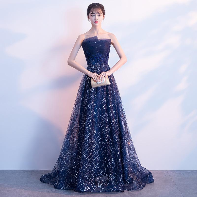 DH317 Blue Lace Modern Elegant Dress For Women Daily Sexy Dress Chinese  Oriental Dresses Evening Dress Robe Chinoise Party Dresses Special Occasion  Outfits ... 89570682ac5e