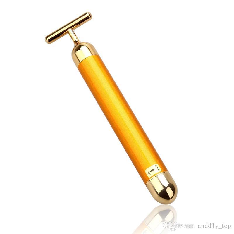 Beauty Bar Golden Energy Face Massager Body Skin Beauty Care Strumenti di massaggio facciale a vibrazione
