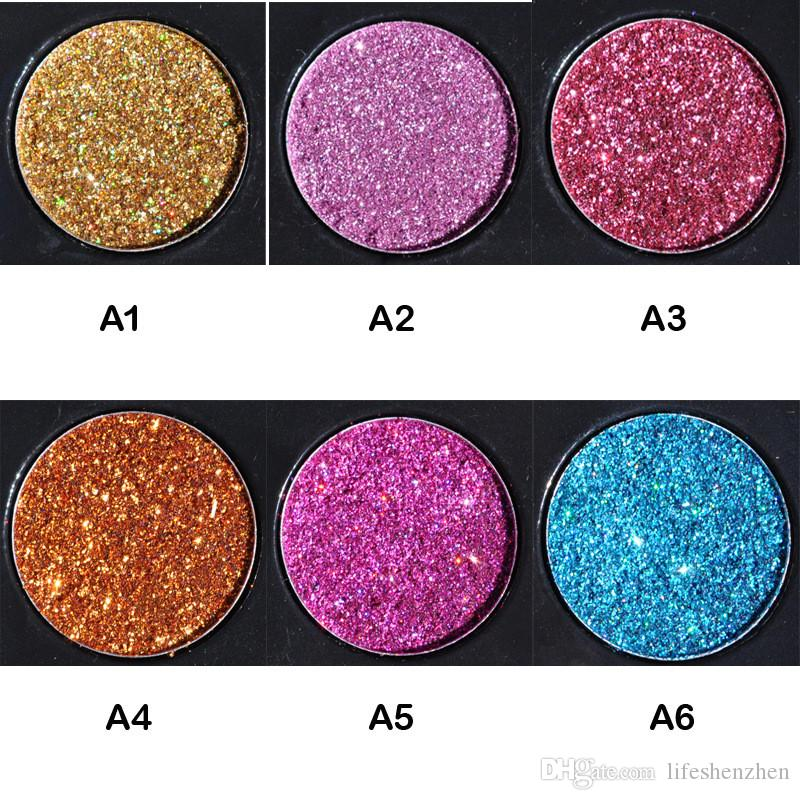 HANDAIYAN Brand Makeup Waterproof Glitter Metallic Shimmer Eyeshadow Palette Shiny Eye Shadow Diamond Pigment Powder