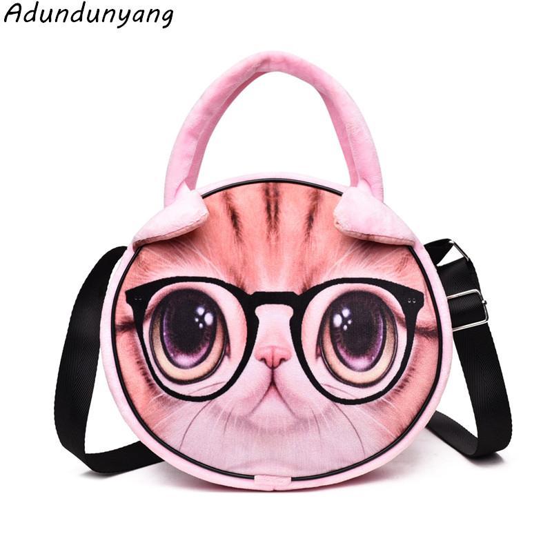 New Cute Cat Shoulder Bag Purse Handbags Women Messenger Bags FOR Girls  Cartoon With Crossbody Phone Bag Cat Wholesale Purses White Handbags From  Croftte, ... 44ffcc2649