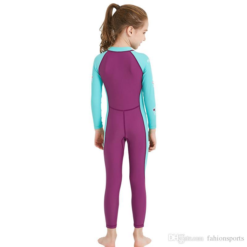 Lycra Wetsuit Para Crianças Meninos Meninas Diving Suit Swimsuit Completo Manga Longa Swimwear Wetsuits Para Crianças Rashguard