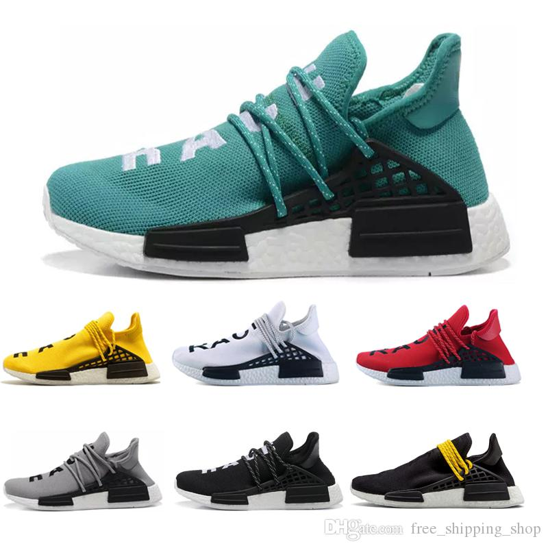 d9e3a6d0e 2019 Designer Green NMD Human Race Runner R1 For Men Women Pharrell  Williams Yellow Grey Red Running Sports Sneakers Men Traners Shoes Black  Running Shoes ...