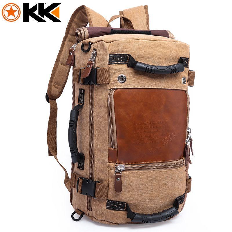 1f85d783d2 KAKA Large Capacity Female Canvas Backpack Male Computer Travel Bags  Backpacks For Men Waterproof Duffel Luggage Shoulder Bag Swissgear Backpack  Swiss ...