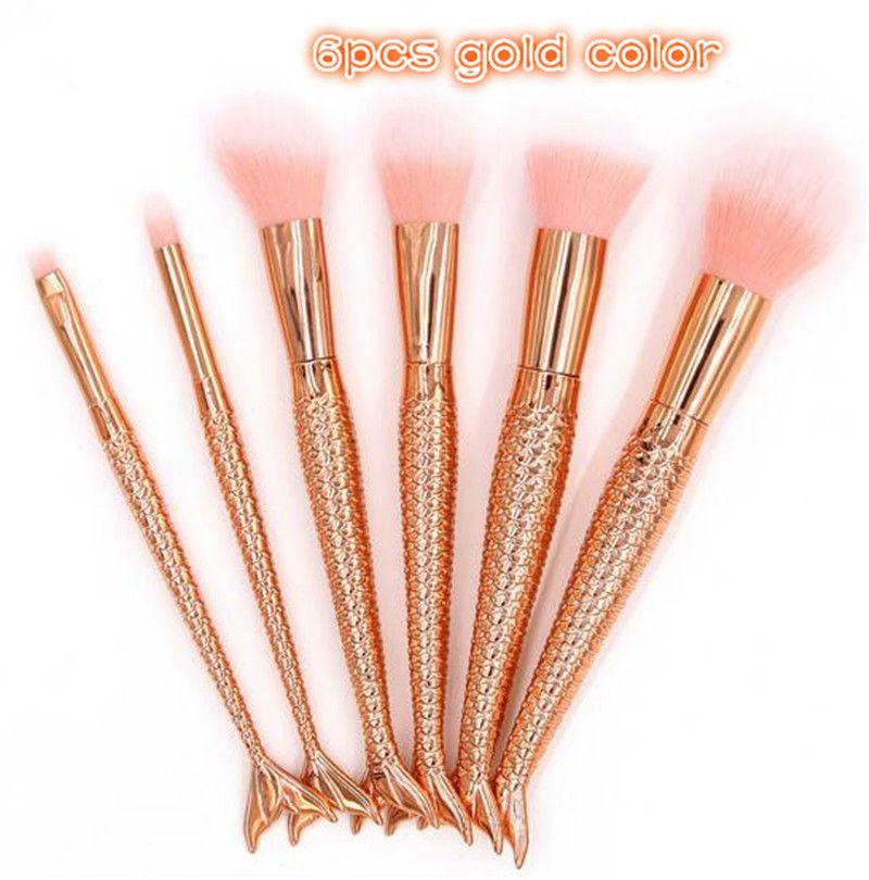 spazzole di trucco della sirena hanno fissato gli attrezzi di trucco dei pesci magici dell'ombretto della polvere del fondamento dell'ombretto della polvere DHL libera il trasporto