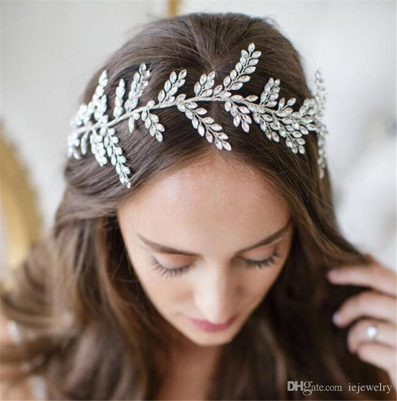 2019 Wedding Bridal Crystal Rhinestone Headband Princess Hair Accessories  Band Jewelry Crown Tiara Queen Headpiece Headdress Rose Gold Jewelry H From  ... 32aa345582e