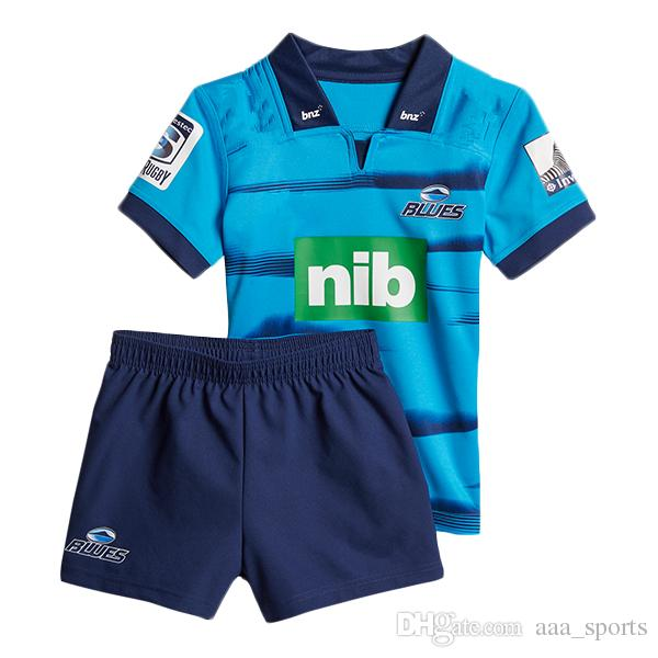 d68f55dfb 2019 2018 2019 Blues Super Rugby Kids Jersey NRL National Rugby League Nrl  Jersey Shirt New Zealand Blues Child Kit Shirts S 3xl From Aaa_sports, ...
