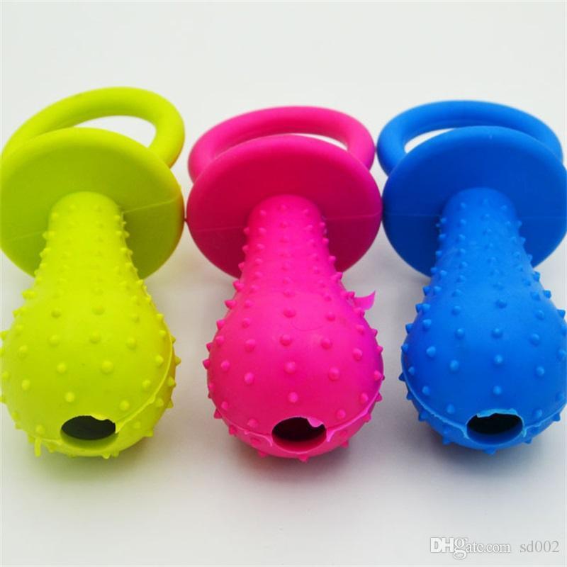 Chupete Forma Perro Juguetes para masticar TPR Cachorro Dientes de gato Juguete de resistencia de juguete para morder Multi Color 1 5kb C R