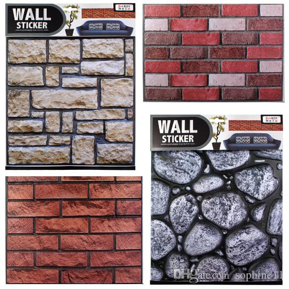3d brick pattern wall sticker vintage pvc adhesive wallpaper tile
