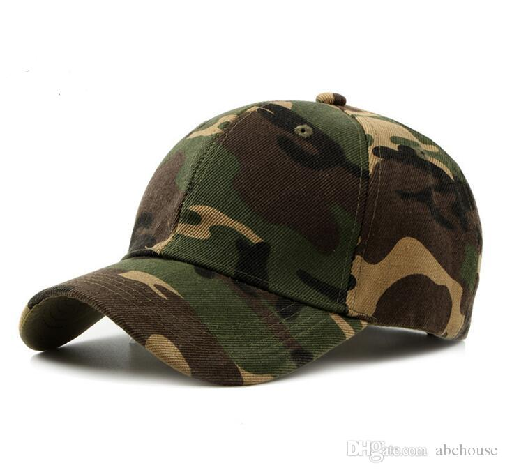 Compre Liso Curvo Algodón Ejército Camuflaje Gorras De Béisbol Para Adultos  Mens Hat Para Mujer En Blanco Sombreros Militares Primavera Verano Deporte  Sun ... 0a41ad8462a