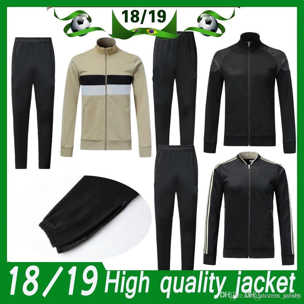 Compre Juventus Traje De Chaqueta De Manga Larga Para Adultos Kit Soccer  Jersey Uniforme De Entrenamiento 2018 19 Juve Jacket Chaqueta De Fútbol  Chaqueta + ... 60a76369310bc