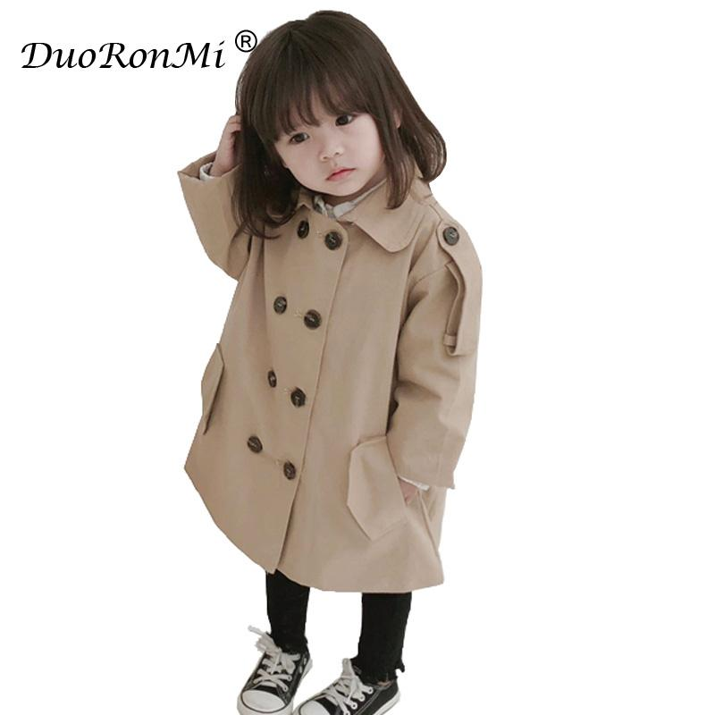 830d4fbef Baby Girls Jacket 2018 Autumn Winter Jackets For Girls Trench Coat ...
