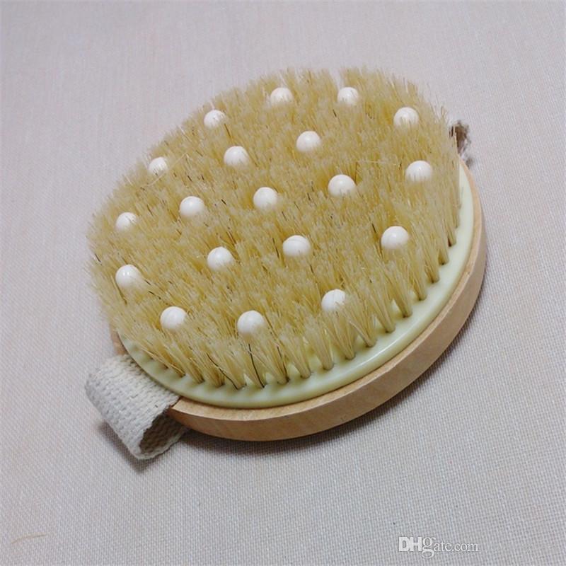Ducha de baño Cepillo de masaje Cerdas Cepillos Masaje Cepillo corporal Ducha de baño Exfoliante corporal Lavador