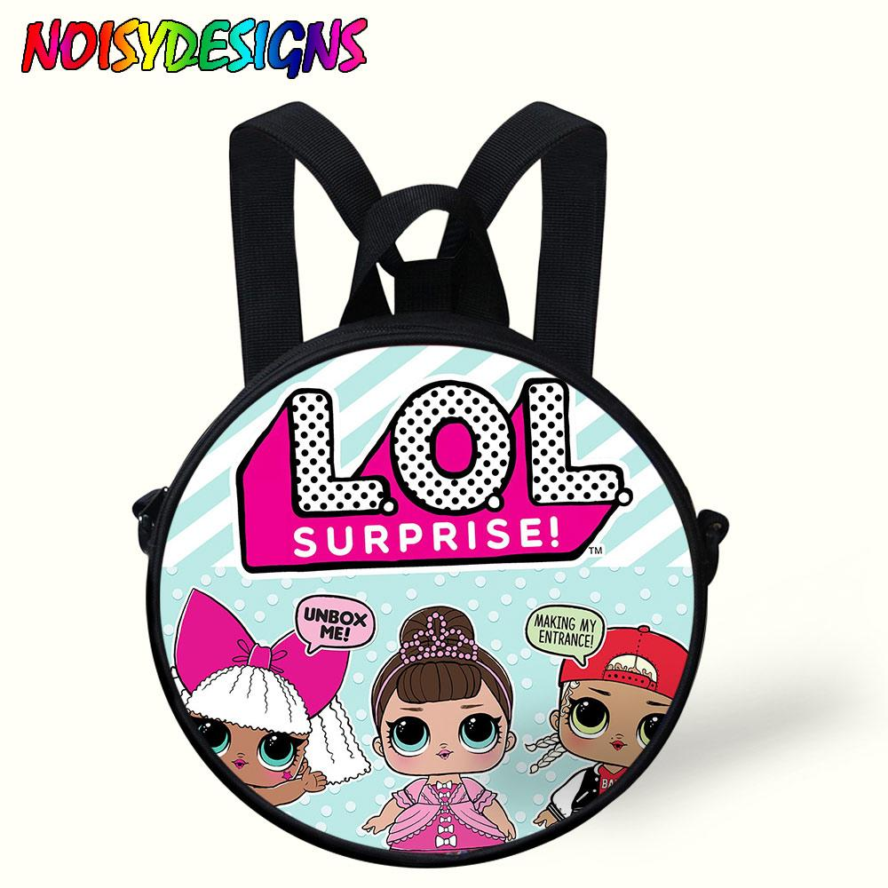 2021003dd5ef 9 Inch Dolls LOL School Backpack Toys Round Bag For Kids Boys Girls Children  Cartoon School Bags Kindergarten Age 1 5 Years Old Backpacks For School Kids  ...