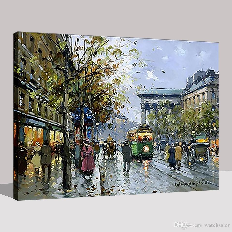 DIY Oil Painting By Numbers Kits Coloring HandPainted Europe Street Night Pictures On Canvas Home Decor Living Room Framework