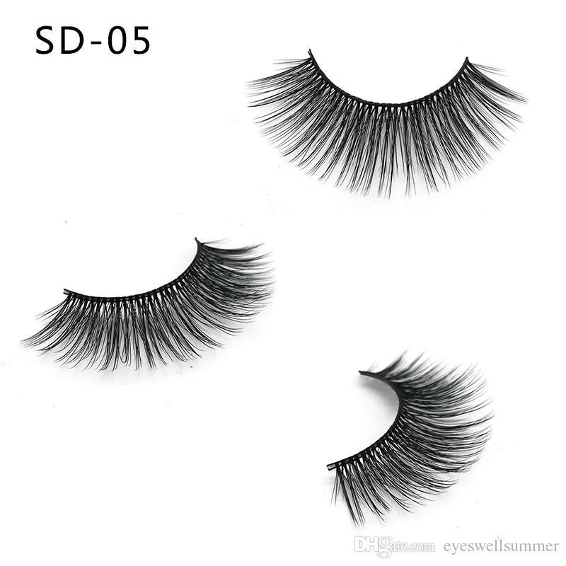 3D 밍크 속눈썹 전체 스트립 가짜 속눈썹 긴 개별 부드러운 자연 두꺼운 속눈썹 밍크 눈 속눈썹 연장 미용 도구 20styles