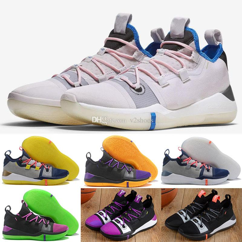 3568352ead1 2018 New Kobe A.D. Exodus Derozan Black Purple Sai BHM Basketball Shoes For  High Quality Multicolor Mens Trainers Designer Sneakers EUR 7 12 Kids  Basketball ...
