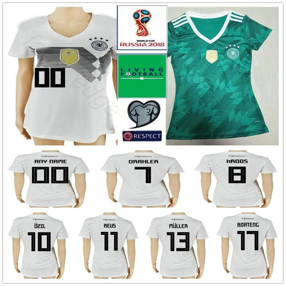 74b4b51f09e 2019 2018 World Cup Woman Germany Soccer Jersey Muller Gotze Reus Kroos  Draxler Neuer OZIL BOATENG Custom Woman Men Kids Youth Football Shirt From  Fans edge ...