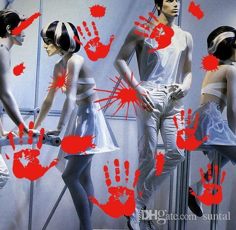 Кровавые Следы Пола Цепляется Хэллоуин Вампир Зомби Украшения Партии Наклейки Наклейки Поставок Хэллоуин Партии Косплей Партии
