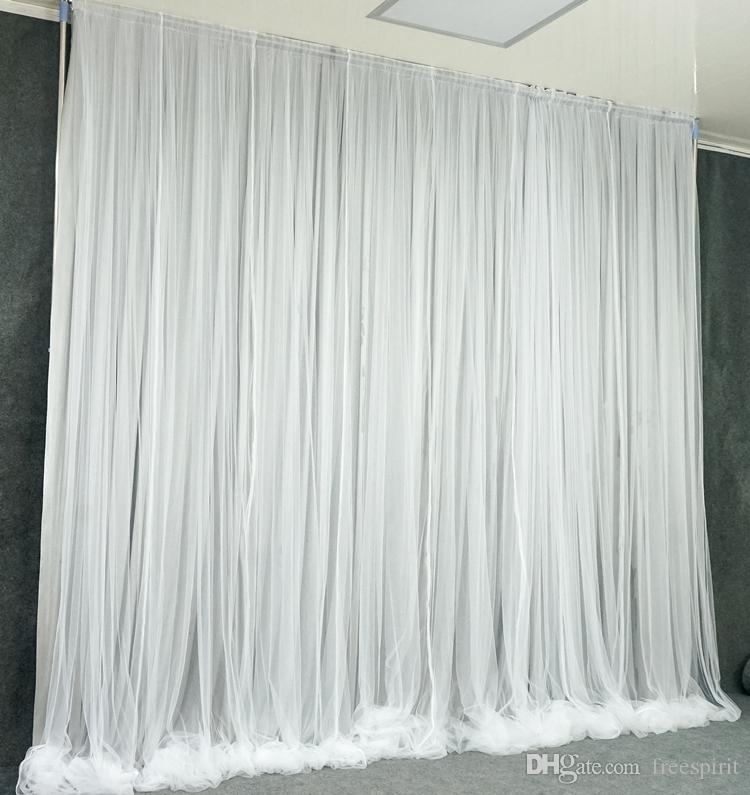 10x10 ft Wedding Backdrop Curtain White Outdoor Stage Background Party Decorate Props Customize Birthday School Play Wall