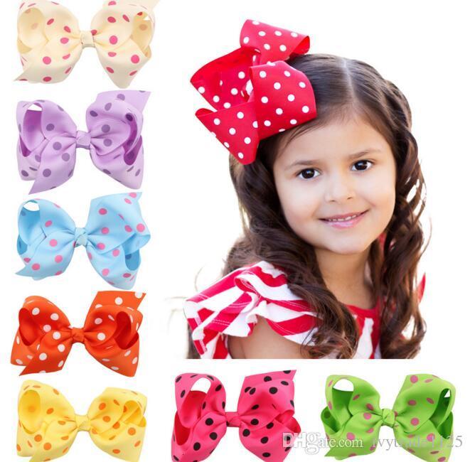 16 색 아기 소녀 등나무의 색상 큰 활 어린이 모자 어린이 헤어핀 여자 헤어 클립 아기 헤어 액세서리 bowknot 디자인 머리를 헤어핀