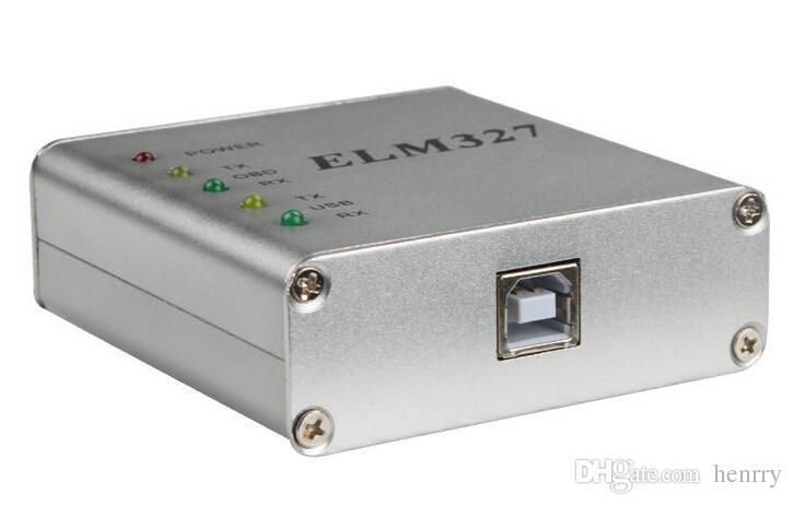 ELM327 USB Aluminium RS232 COM Metal OBD2 ELM 327 CAN-Bus skaner OBD2 Code V1.4 Wersja Real ELM327 USB PIC18F25K80 + CP2102