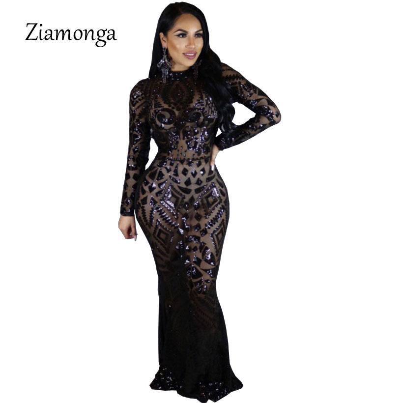 0bd202c46568 Acquista Ziamonga Inverno Donna Rosso Nero Sequin Party Night Club Dress  Spumante Fasciatura Bodycon Dress Mujer Abiti Da Festa Femme Robe A  30.51  Dal ...