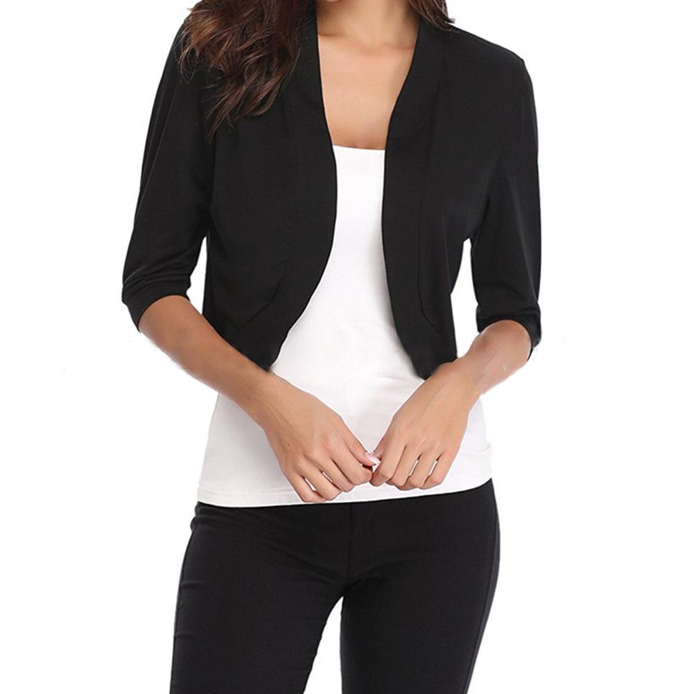 c9d78e810a58a Fashion Cardigan Womens Jacket Crop Top Bolero Shrug Open Front Design Plus  Size Cropped Cardigans Half Sleeve Tops Casual Jackets Lightweight Jackets  From ...