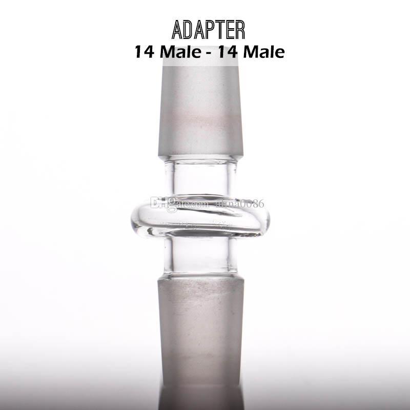 유리 변환기 제조 업체 도매 어댑터 10-10 10-14 14-14 14-18 18-18mm 남성 조인트 모든 크기 믹스 가능