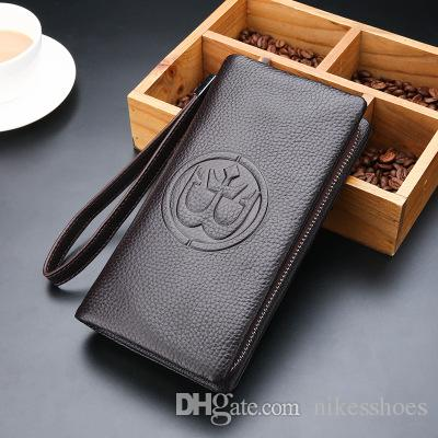 The new business bag head layer cowhide man hands bag leather wallet hands grab mobile phone bag
