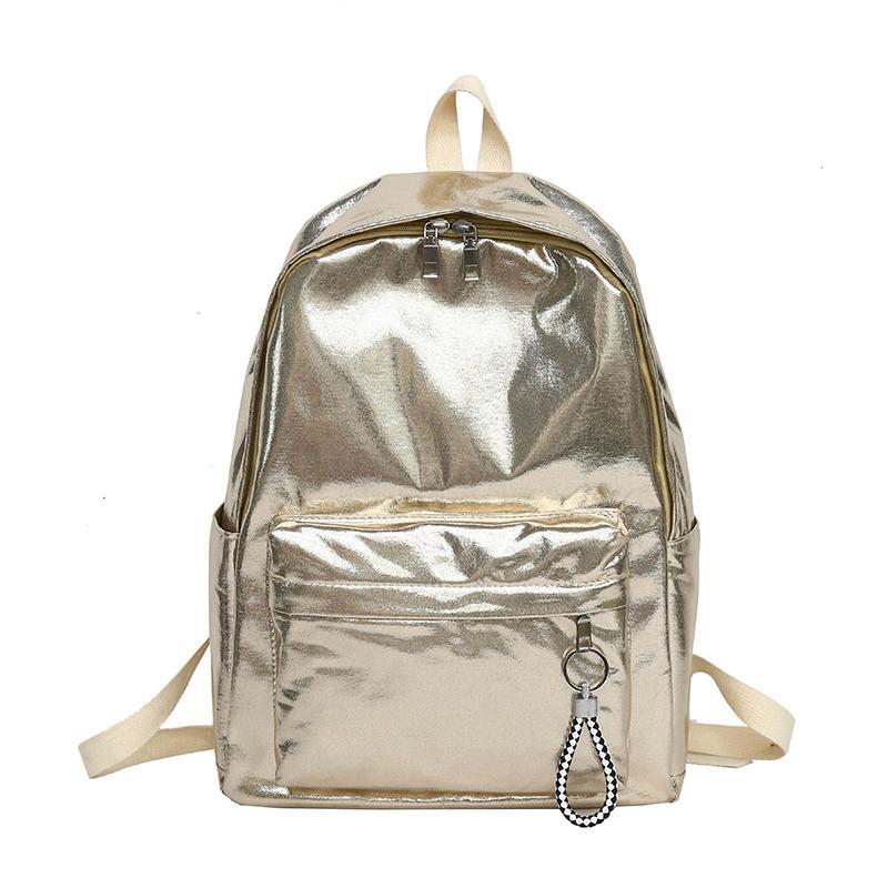 The Glossy Backpack Gold Shiny Waterproof Nylon School Bag For Teenage  Girls Silver Fashion Book Bag Large Capacity Travel Kids Backpacks Dakine  Backpacks ... c06574b7f457b