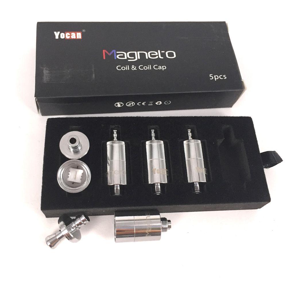 100% аутентичные замена керамическая головка катушки для Yocan Магнето воск ручка комплект с 1100 мАч батареи магнитное соединение Dab инструмент катушки крышка