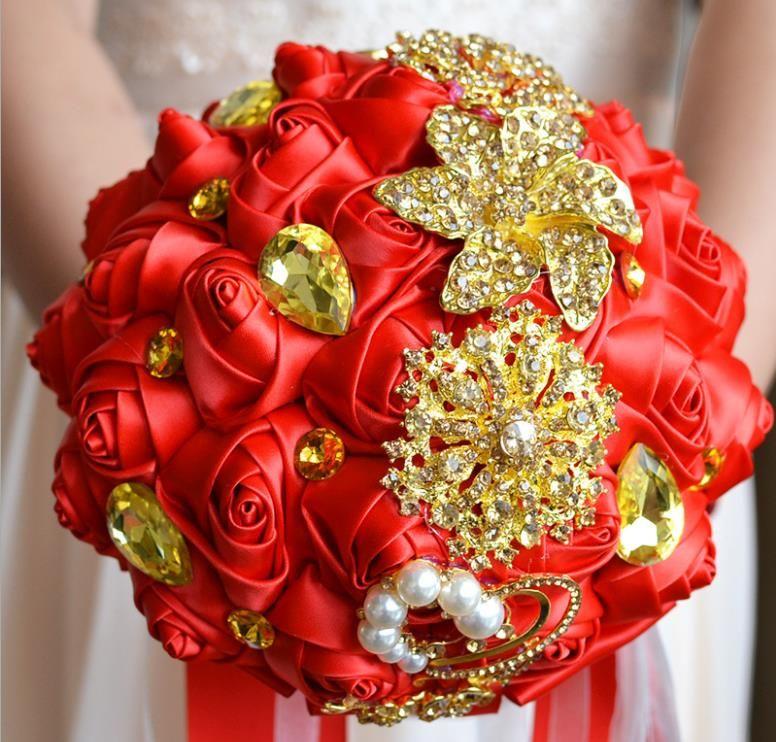 New Eternal Angel Wedding Gifts Golden Romantic Bride Bouquet