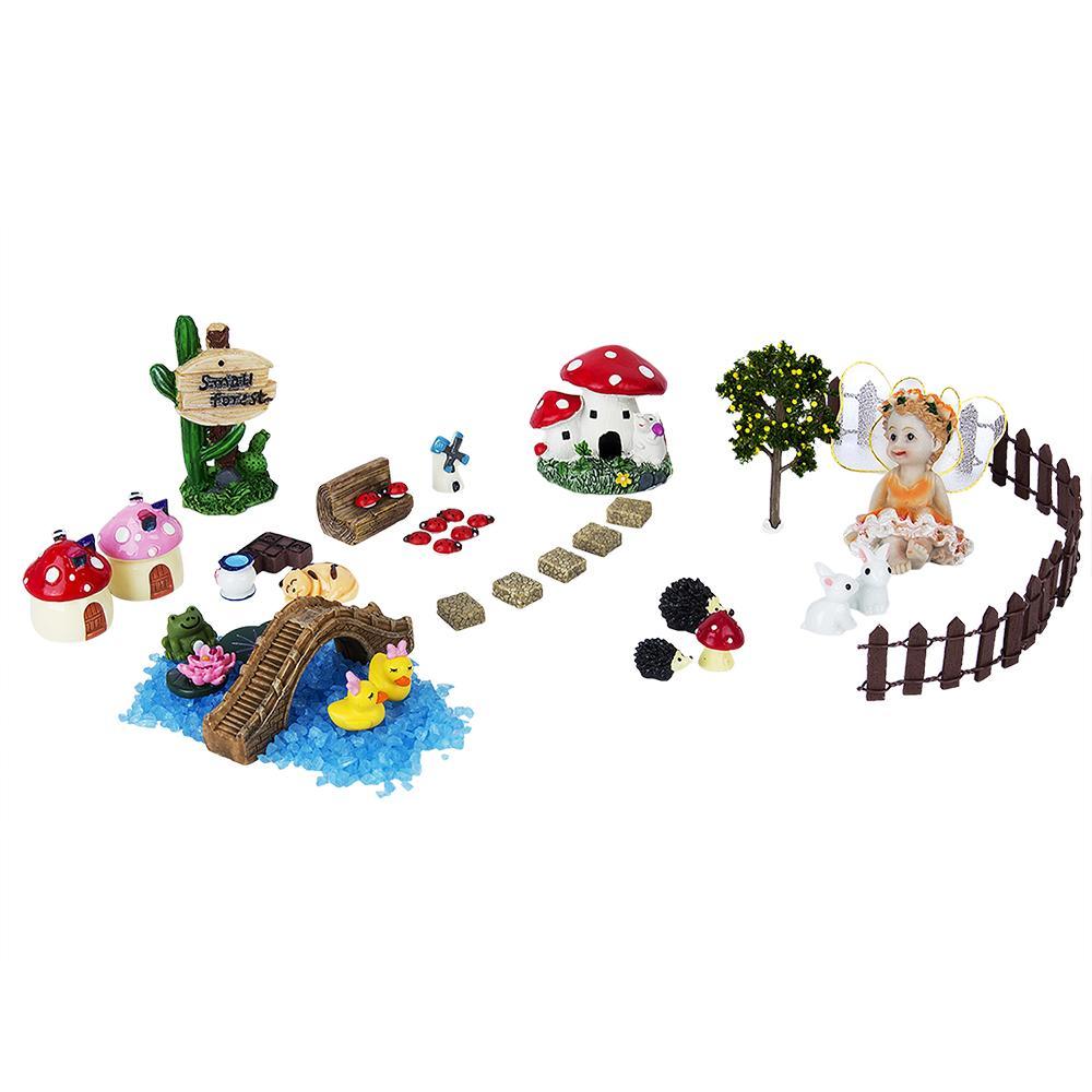2019 /Set Miniature Fairy Garden Accessories Resin Crafts Bonsai Decorative  Miniature Decoration Gnome Moss Terrariums Figurines From Winwood, ...