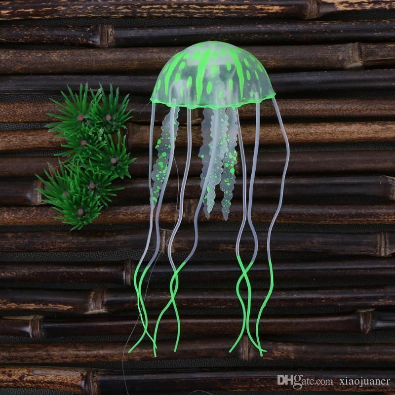 En gros Simulation Artificielle Méduse Effet Incandescent Aquarium Décoration Poisson Réservoir Décor Fluorescent Méduses Flottant Méduses Nouveau