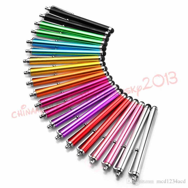 متعدد الألوان المعدنية 9.0 بالسعة ستايلس القلم لمسة قلم لباد فون 6 7 8 × سامسونج الروبوت الهاتف اللوحي MP3