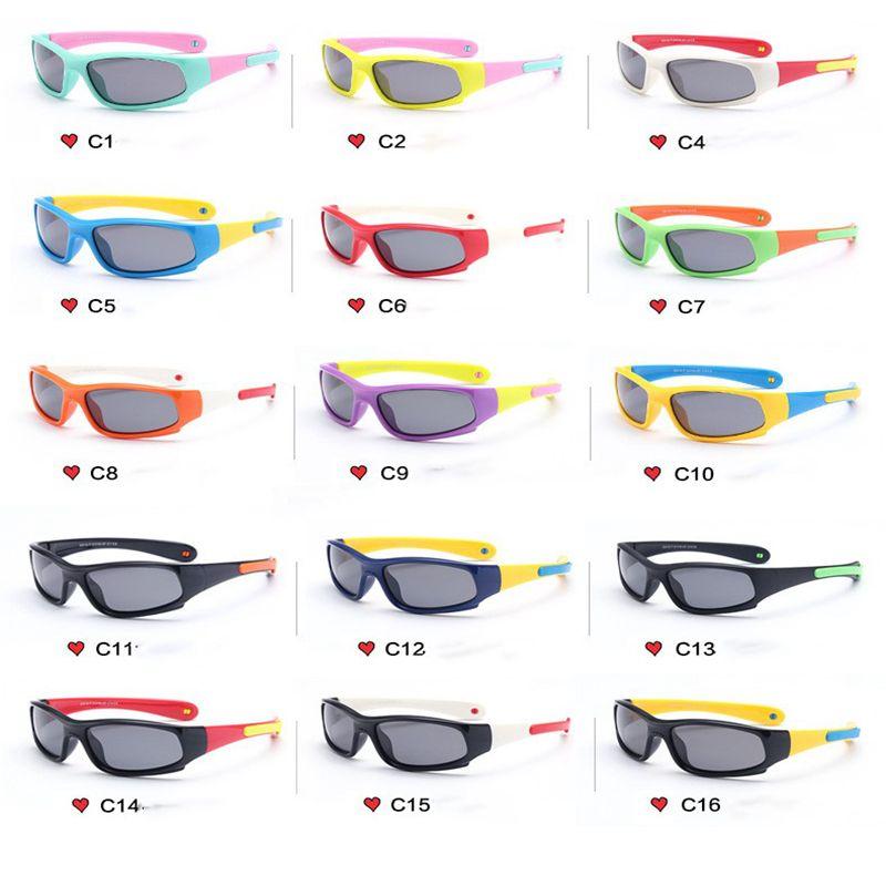 597f2afa66 Compre Gafas De Sol Para Niños Gafas De Montar Polarizadas Lindas Deporte Al  Aire Libre Gel De Sílice Gafas De Sol Halter Para Niños Protección UV400  Viajes ...