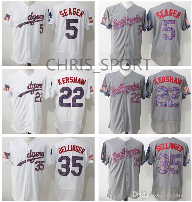 29bafab98 Los Angeles Fashion Stars   Stripes Baseball Jerseys  5 Corey Seager 22  Clayton Kershaw 35 Cody Bellinger White Cool Base Jersey Corey Seager  Clayton ...