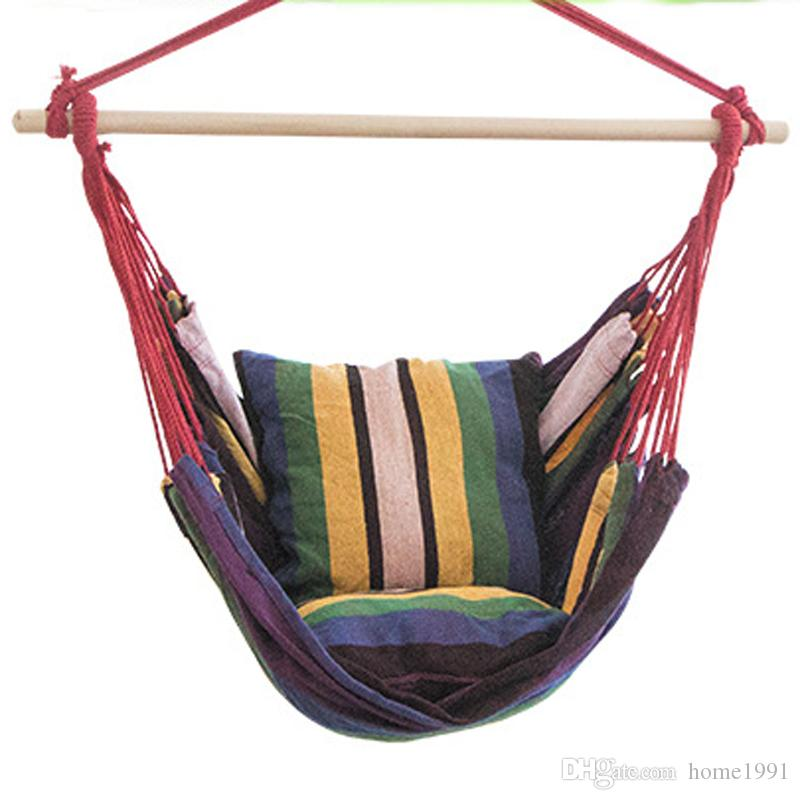 Yeni Kapalı Açık Çocuk Tuval Hamak Asılı Halat Sandalye Sundurma Salıncak Koltuk Veranda Kamp Öğrenci Taşınabilir Şerit Boş Sandalye